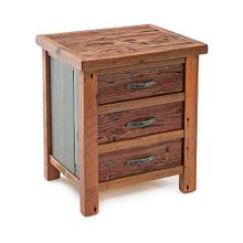 Cowboy Up 3 Drawer Nightstand
