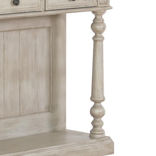 Three Drawer Farmhouse Console Table in Prairie Beige