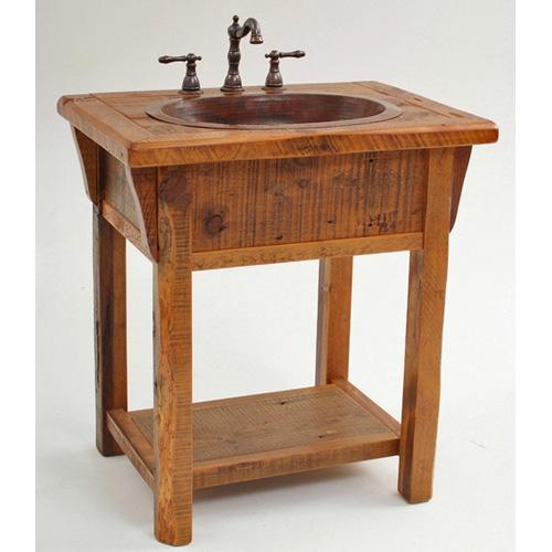 Green Gables Furniture - Stony Brooke Open Vanity With Shelf and Wood Top