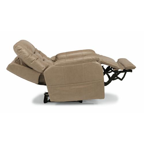 Flexsteel - Theo Power Recliner with Power Headrest and Lumbar