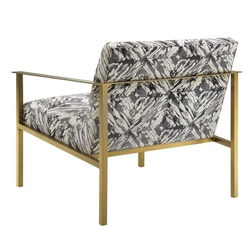 Modern-inspired Gold and Marble Accent Chair