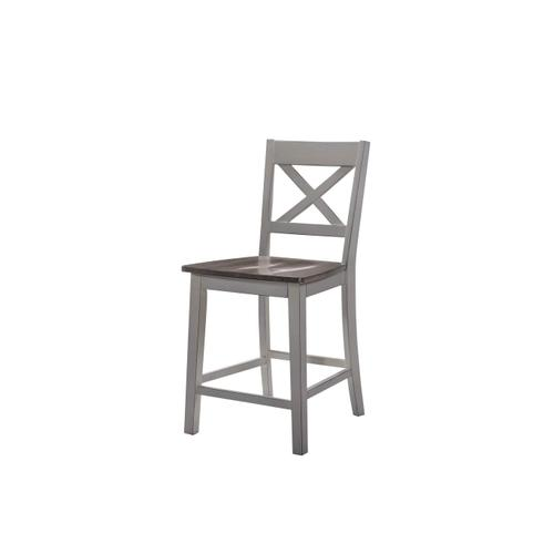 5059 A La Carte Grey 2-Pack Counter Height Barstools
