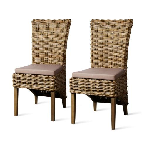Chance Rattan Side Chair, Kubu Grey