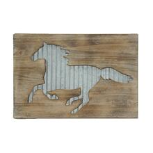 Horse Galvanized Metal Western Wall Decor