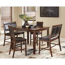 Meredy - Brown 5 Piece Counter Height Dining Room Set