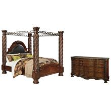 View Product - California King Poster Bed With Canopy With Dresser