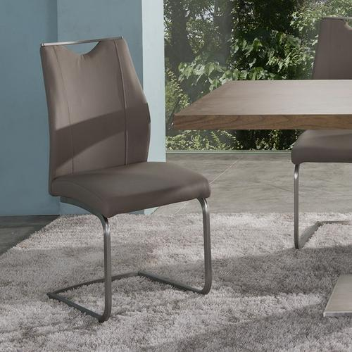 Armen Living - Bravo Contemporary Side Chair In Coffee and Stainless Steel - Set of 2