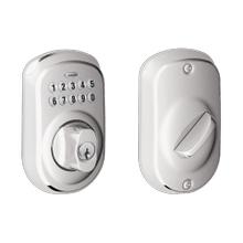 View Product - Plymouth Trim Keypad Deadbolt - Bright Chrome