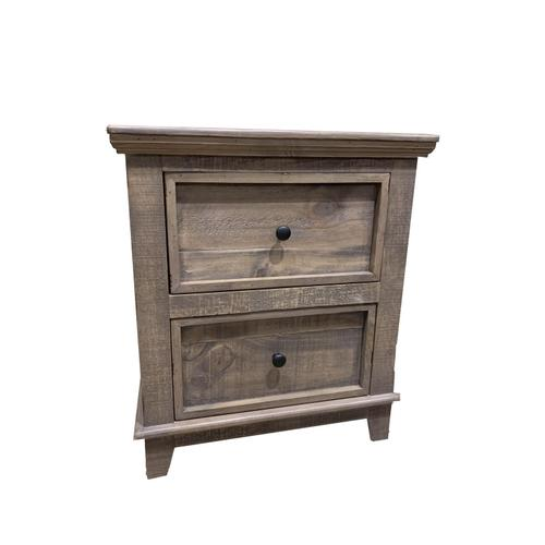 L.M.T. Rustic and Western Imports - Westpark Driftwood Nightstand