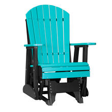 See Details - 2 Adirondack Glider Chair, Aruba-blue-black