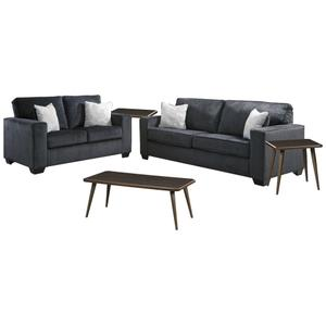 Sofa and Loveseat With Coffee Table and 2 End Tables