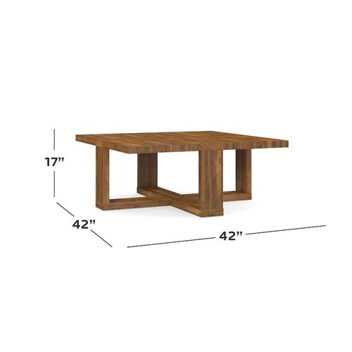 "Bench*Made Maple Skyline 46"" Square Cocktail"