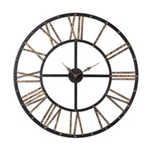 See Details - Metal-framed Roman Numeral Open Back Wall Clock