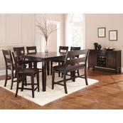 Victoria 8 Piece Counter Set (Counter Table, Counter Bench & 6 Counter Chairs)