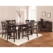 Victoria 8 Piece Counter Set (Counter Table, Counter Bench & 6 Counter Chairs) Product Image