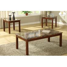 3-Piece Occasional Tables (Faux Marble Top) Cocktail Table: 48 x 24 x 17H End Table: 23 x 21 x 20H