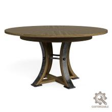 Tower Jupe Dining Table,Sm, Unfinished