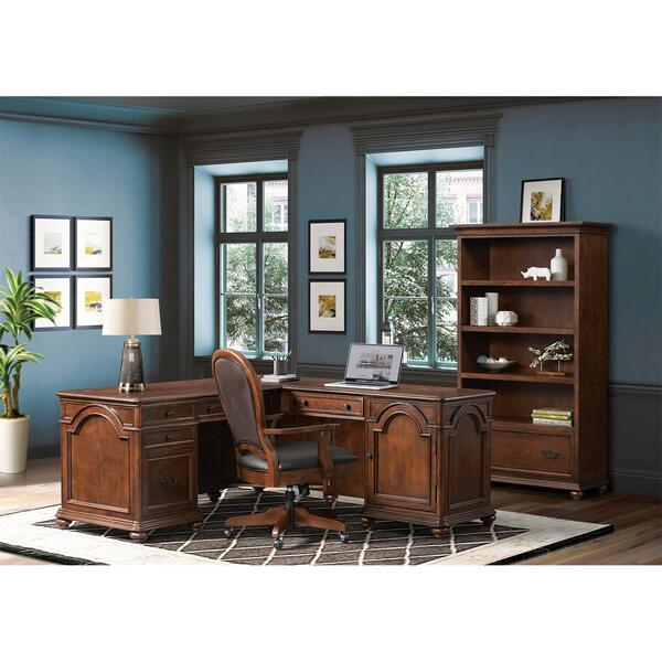 Clinton Hill - Open Bookcase - Classic Cherry Finish