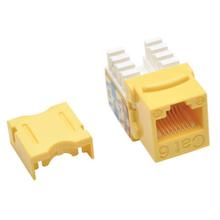 See Details - Cat6/Cat5e 110 Style Punch Down Keystone Jack - Yellow, TAA