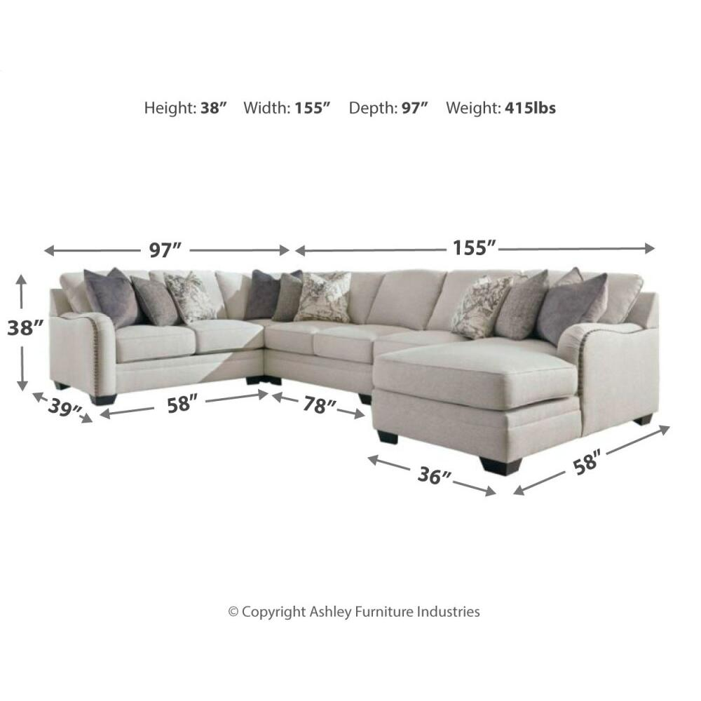 Dellara 5-piece Sectional With Chaise