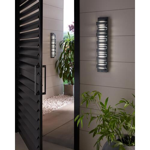 Ledgend Medium LED Outdoor Sconce Dark Weathered Zinc Bulbs Inc