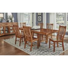 Trestle Dining Table with 6 Chairs
