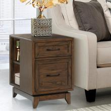 Vogue - Chairside Table - Plymouth Brown Oak Finish