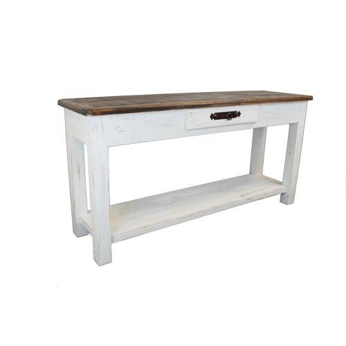 Campo White Sofa Table