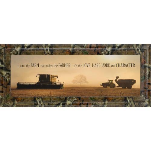 "Classy Art - ""The Farmer"" By Lori Dieter Framed Photo Print Wall Art"