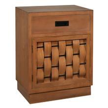 20x12.5x26.5 Cabinet One Drawer One Door Walnut with Black hardware