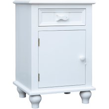 Fishtail White Door Nightstand