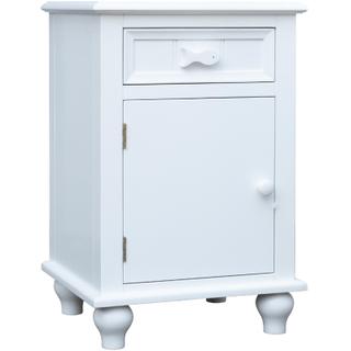 Fishtail White Door Nightstand