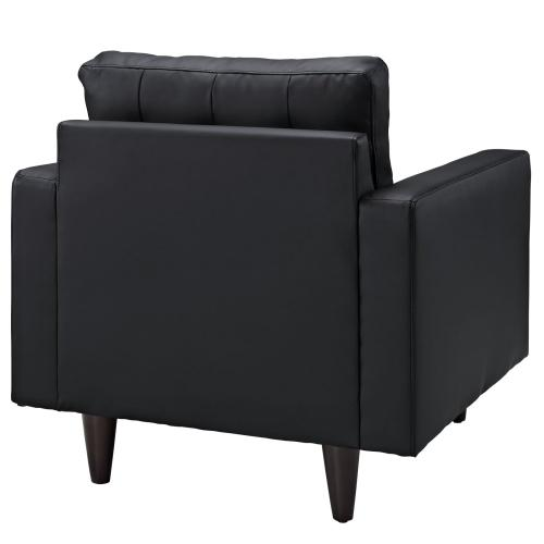 Empress Bonded Leather Armchair in Black