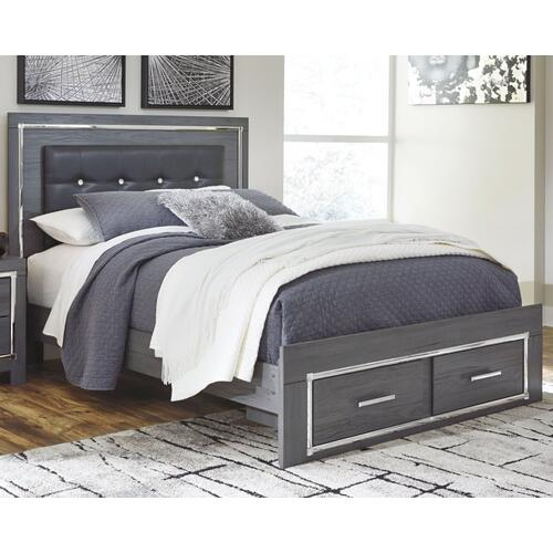 Lodanna Queen Panel Bed With 2 Storage Drawers
