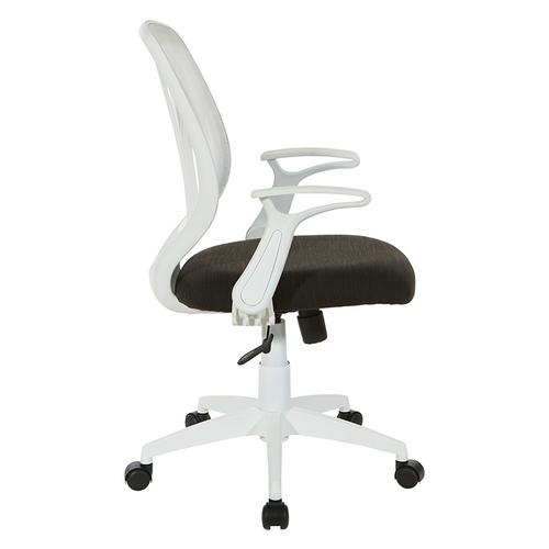 Black Mesh Seat With White Frame Chair