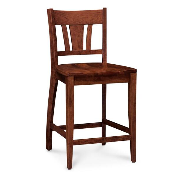 """See Details - Sheffield Stationary Barstool, Fabric Cushion Seat / 30"""" Seat Height"""
