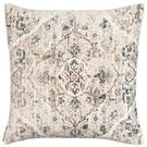 Velvet Faded Ecru Medallion Pillow Product Image