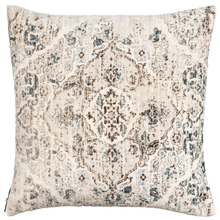 Velvet Faded Ecru Medallion Pillow