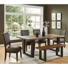 Forrest 6pc Dining Set, Dark Oak/Grey