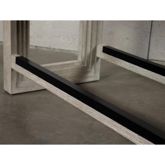 Riverside - Cascade - Upholstered Counter Height Bench - Dovetail Finish