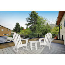 Hanover 3-Piece All-Weather Rocking Adirondack Patio Set - White, ADROCKER3PCWH