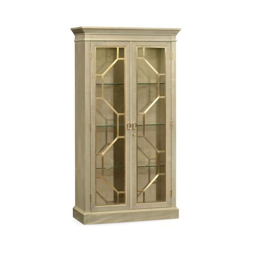 Two-Door Champagne Display Cabinet