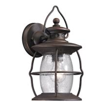 View Product - Village Lantern 1-Light Outdoor Wall Lantern in Weathered Charcoal