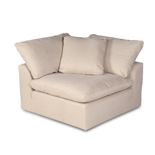 Cloud Puff Slipcovered Modular Sectional Corner Chair - 391084