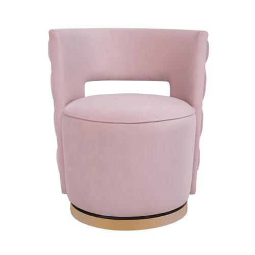 Mimosa Blush Velvet Swivel Chair