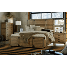 Metalworks Panel Bed, Queen 5/0