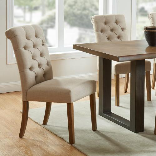 Melia Side Chair, set of 2 in Beige