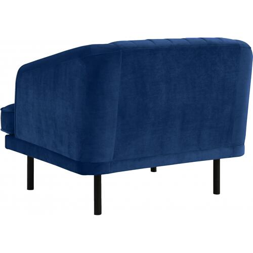 "Rory Velvet Chair - 38"" W x 32.5"" D x 29.5"" H"