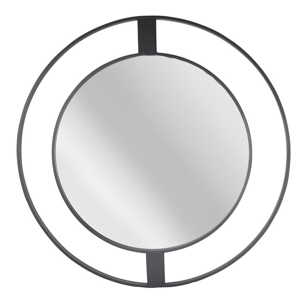 "See Details - Metal Frame 36"" Wall Mirror, Black Wb"