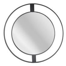 """Metal Frame 36"""" Wall Mirror, Black Wb"""